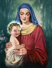Virgin Mary with Baby Jesus by George Hinke