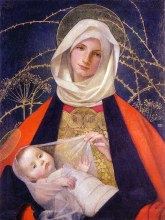 Virgin Mary with Baby Jesus by Marianne Preindlsberger Stokes