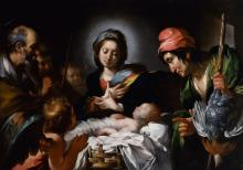 Adoration of the Shepherds by Bernardo Strozzi