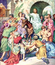 Palm Sunday Celebration by Heinrich Hofmann
